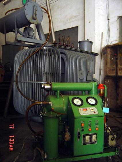 变压器带电滤油