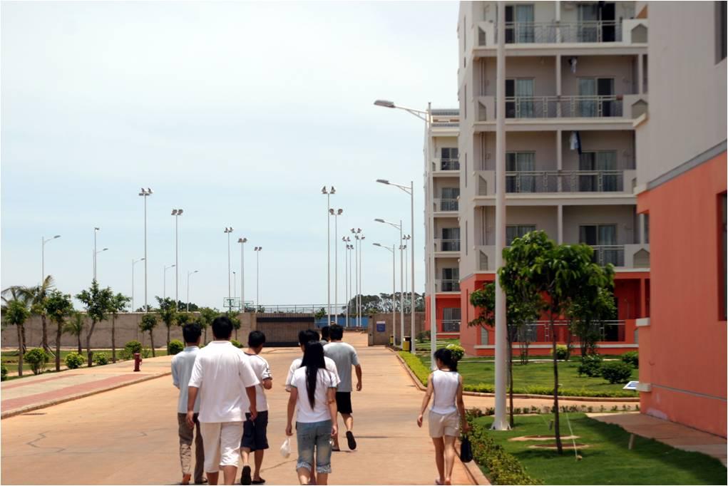 宿舍区路灯安装工程